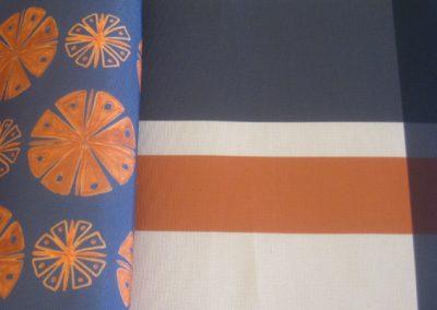 Hélice lounge orange brulé